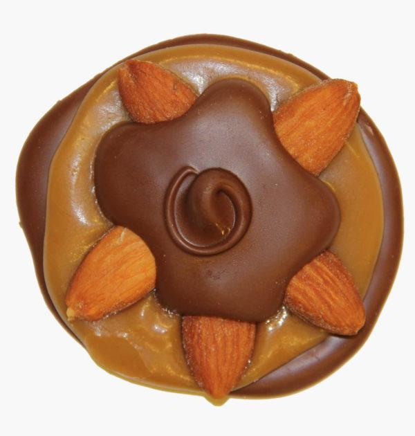 Sugar-Free Dark Chocolate Almond Turtle
