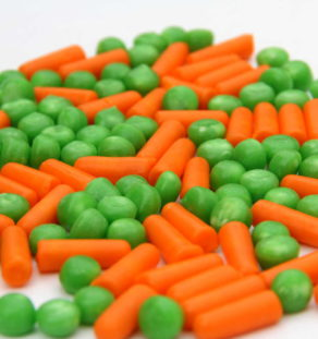 Carrots and Peas candy.