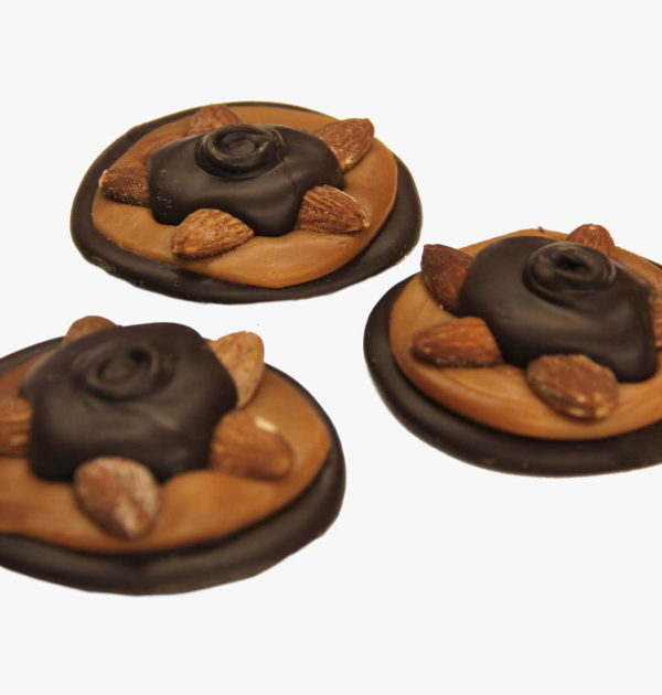 Dark Chocolate Almond Turtles.