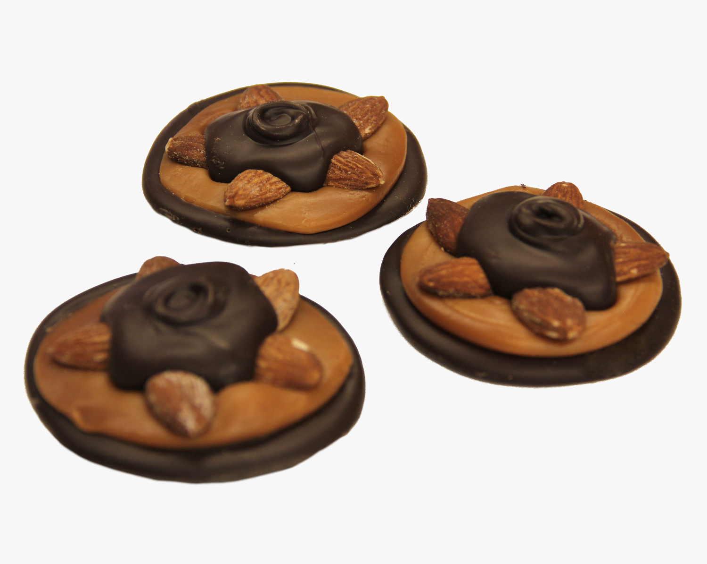 Dark Chocolate Almond Turtle   Turtle Town