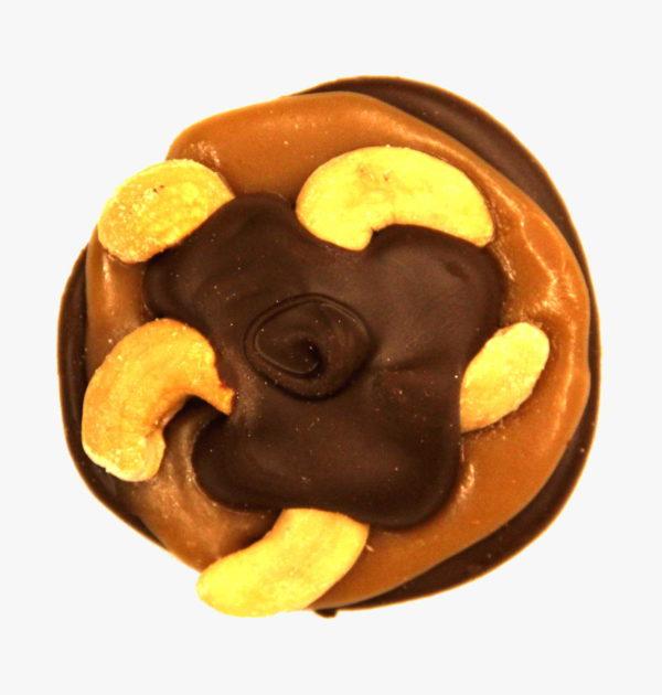 Dark Chocolate Cashew Turtle.