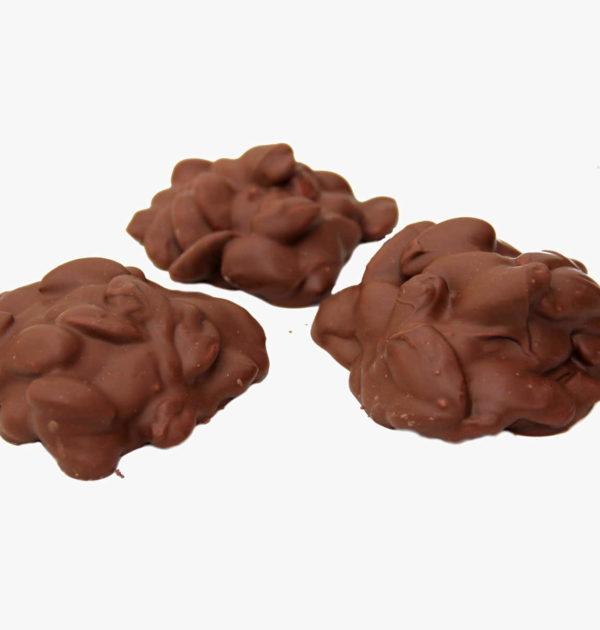 Milk Chocolate Almond Clusters.