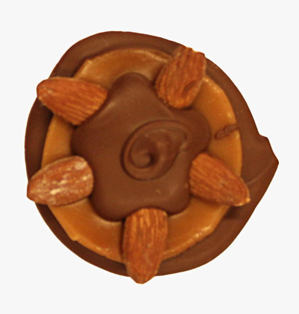 Milk Chocolate Almond Turtle.