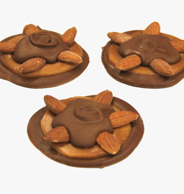 Milk Chocolate Almond Turtles.