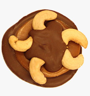 Milk Chocolate Cashew Turtle.