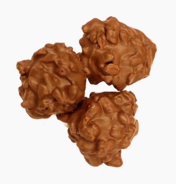 Sugar-Free Milk Chocolate Pecan Clusters.